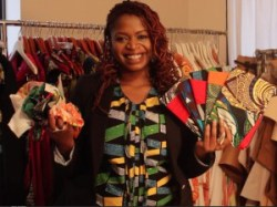 Designer Kahindo Mateene is producing a line of clutches using scraps from her line of apparel, Modahnik.